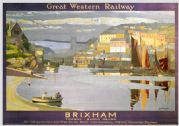 Brixham, Torbay, Devon. GWR Vintage Travel Poster by Gyrth Russell. 1923-1947
